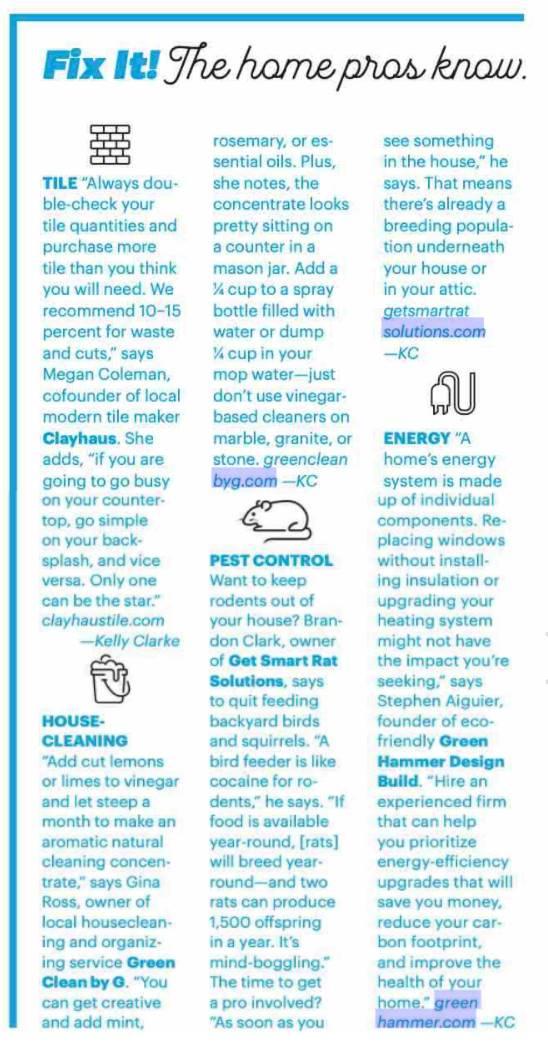 Portland Monthly Magazine Pest Control Pro Tip - Get Smart